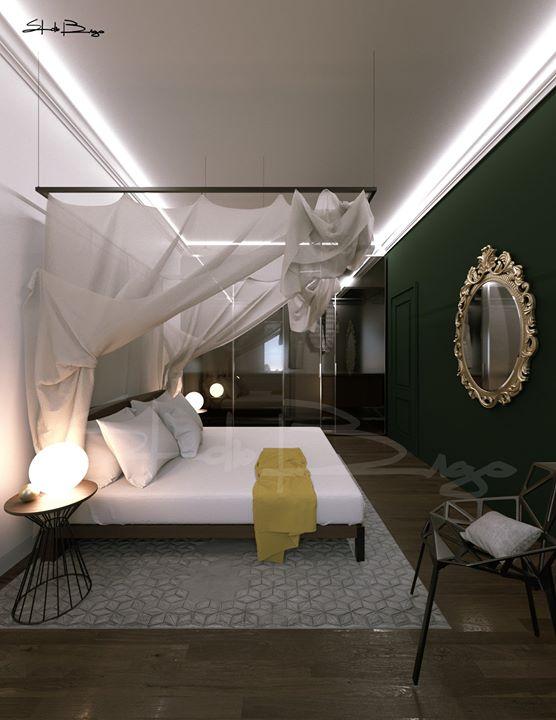 Studio di un interno in un esclusivo palazzo storico in fase di restauro