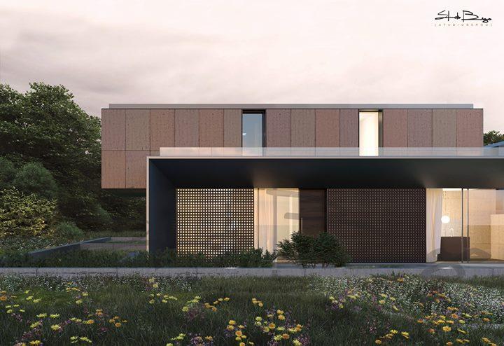 Nuovo concept per una villa immersa nel verde