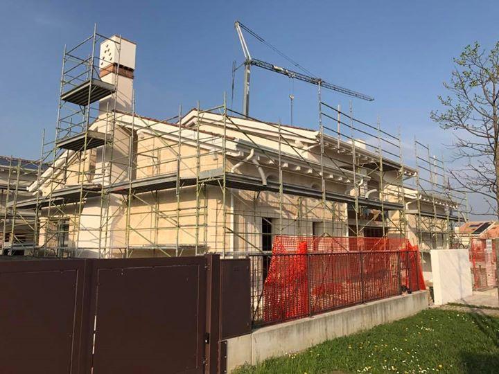 Nuova residenza colli euganei #edificio residenziale bifamiliare #studiobergo #pietra d'istria #la bellezza della semplicità