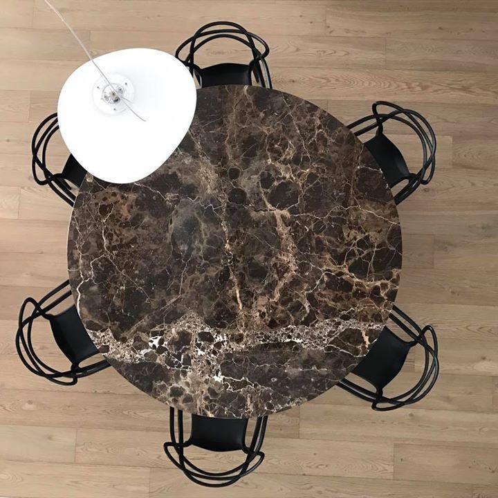 interior design #circular table #studiobergo #kartell #marble #emperador dark