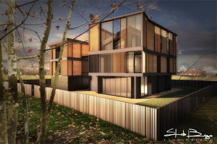 Studio progettuale per nuove unità abitative #render #newproject #studiobergolab #studiobergo #wood #greenarchitecture